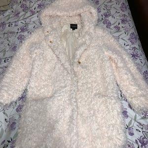 Jackets & Blazers - Cream fluffy coat